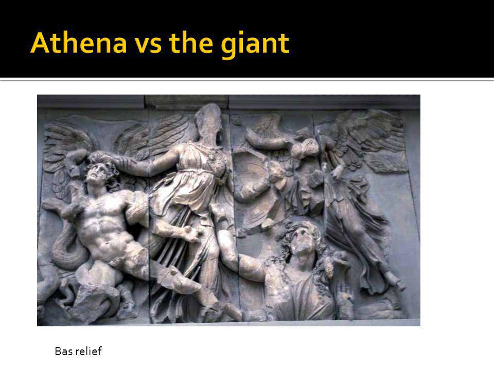 Athena vs the giant Bas relief