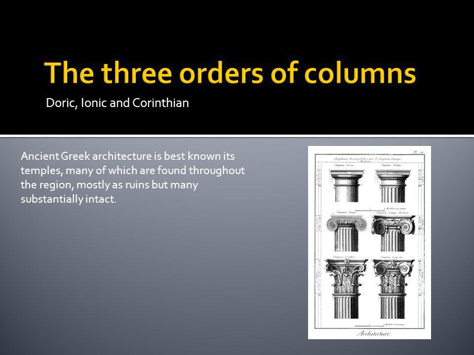 The three orders of columns