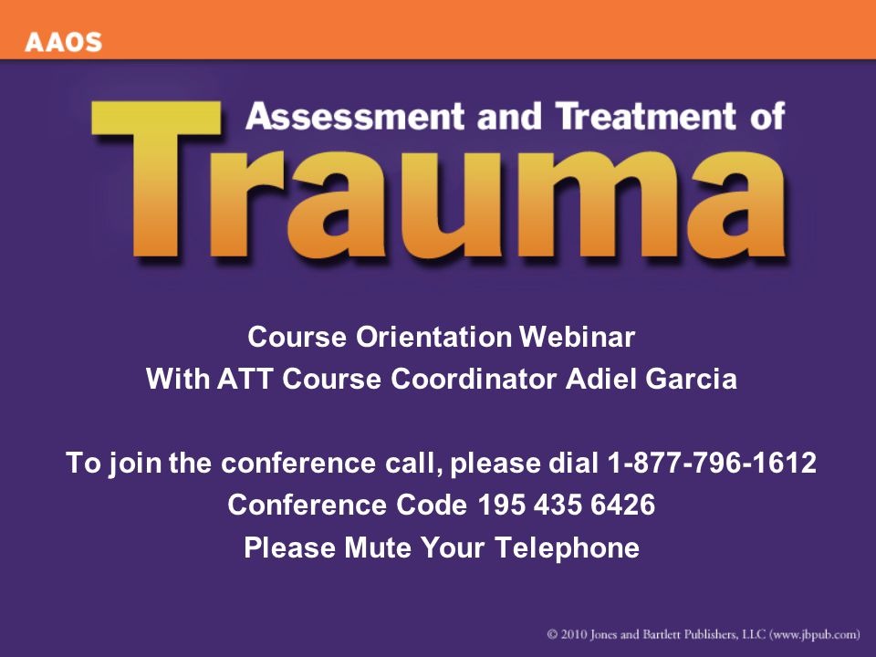 Course Orientation Webinar With ATT Course Coordinator Adiel Garcia