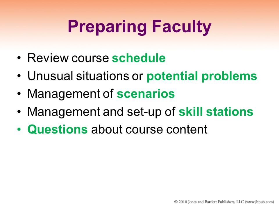Preparing Faculty Review course schedule
