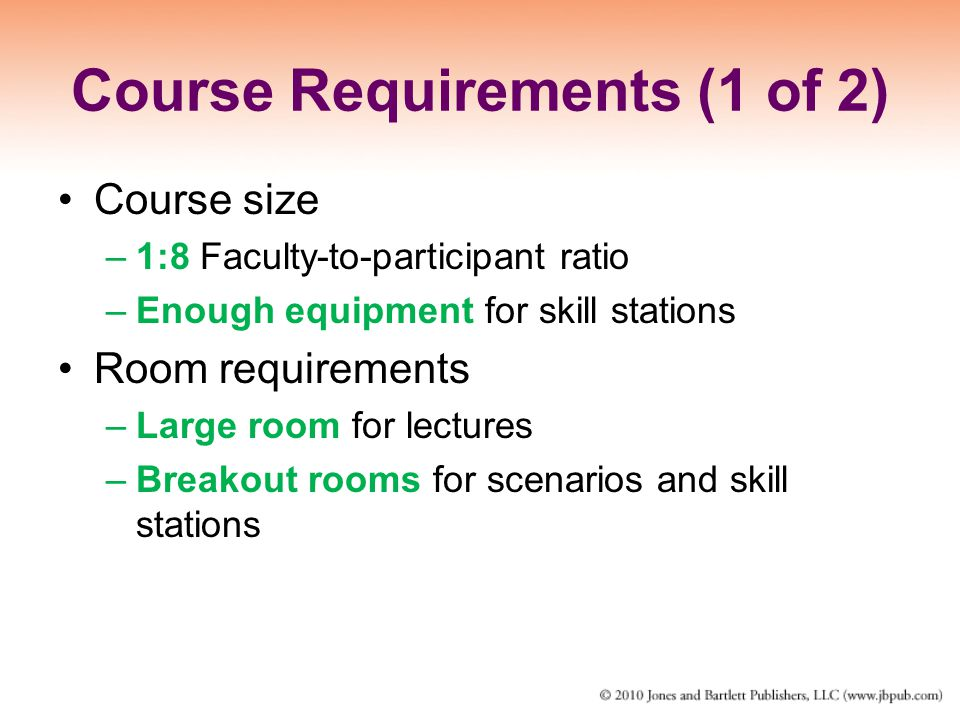 Course Requirements (1 of 2)
