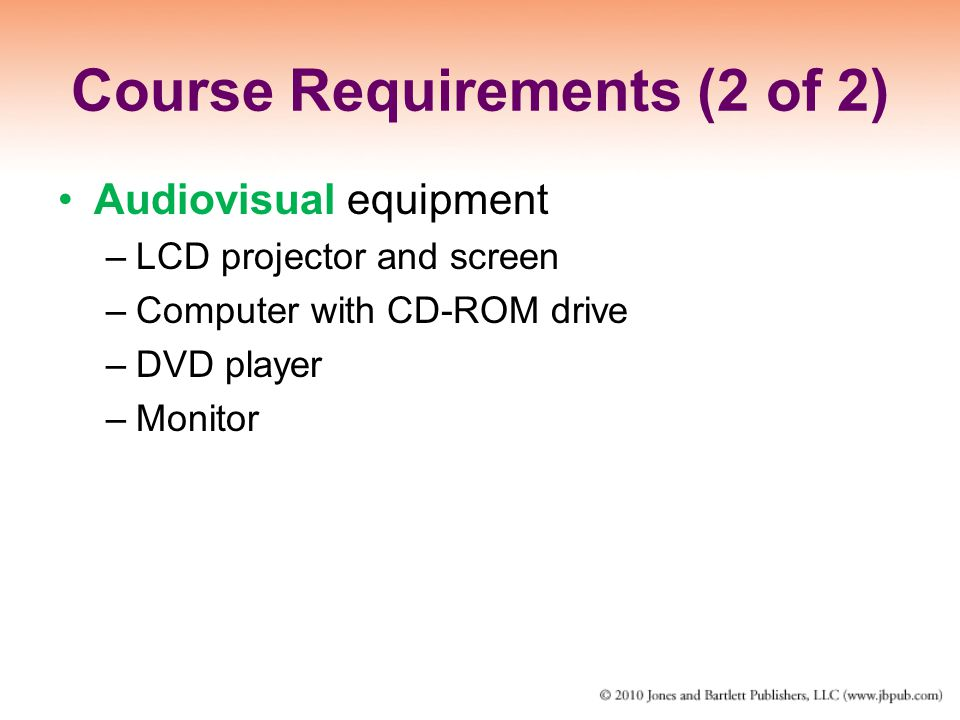 Course Requirements (2 of 2)