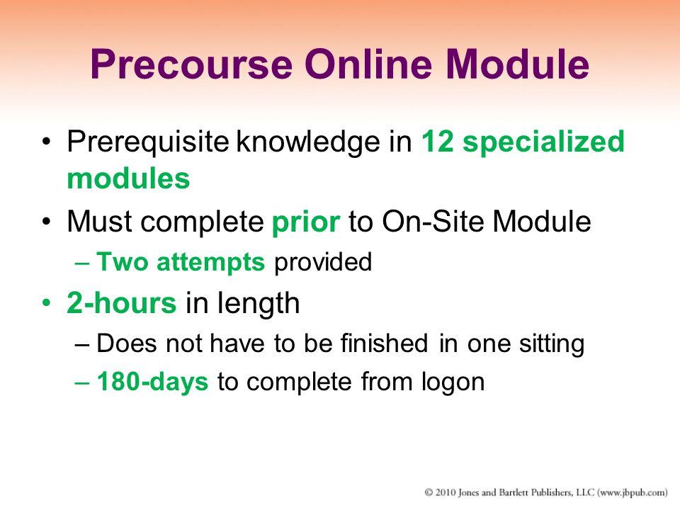 Precourse Online Module