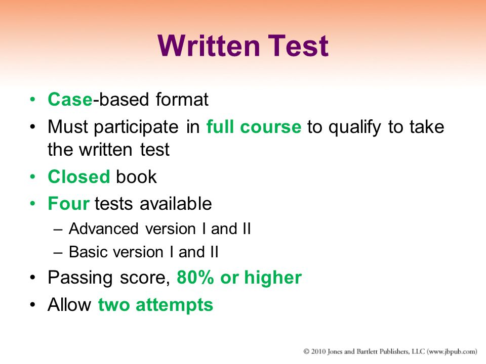 Written Test Case-based format