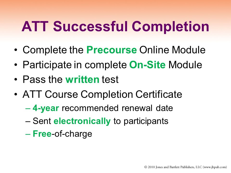 ATT Successful Completion
