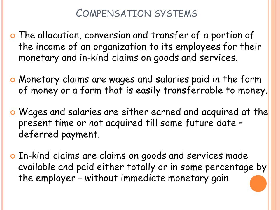 Compensation systems