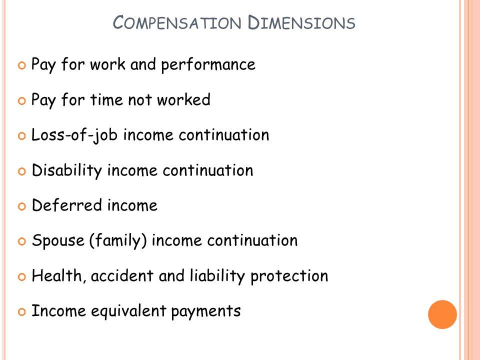 Compensation Dimensions