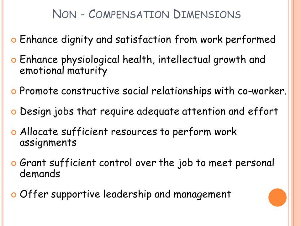 Non - Compensation Dimensions