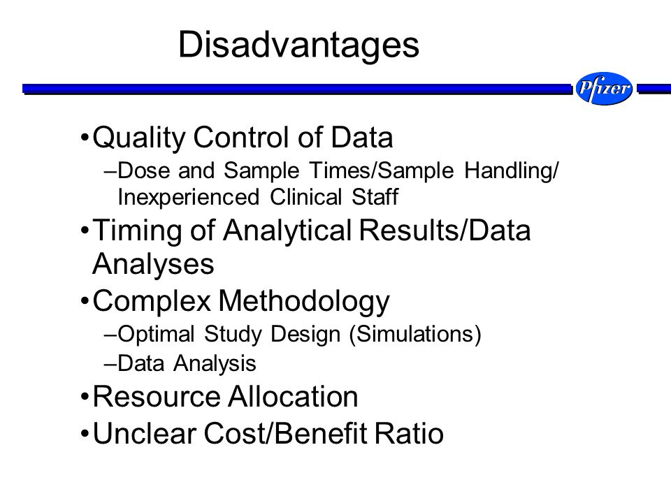 Disadvantages Quality Control of Data