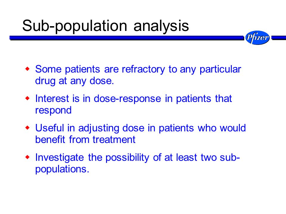 Sub-population analysis