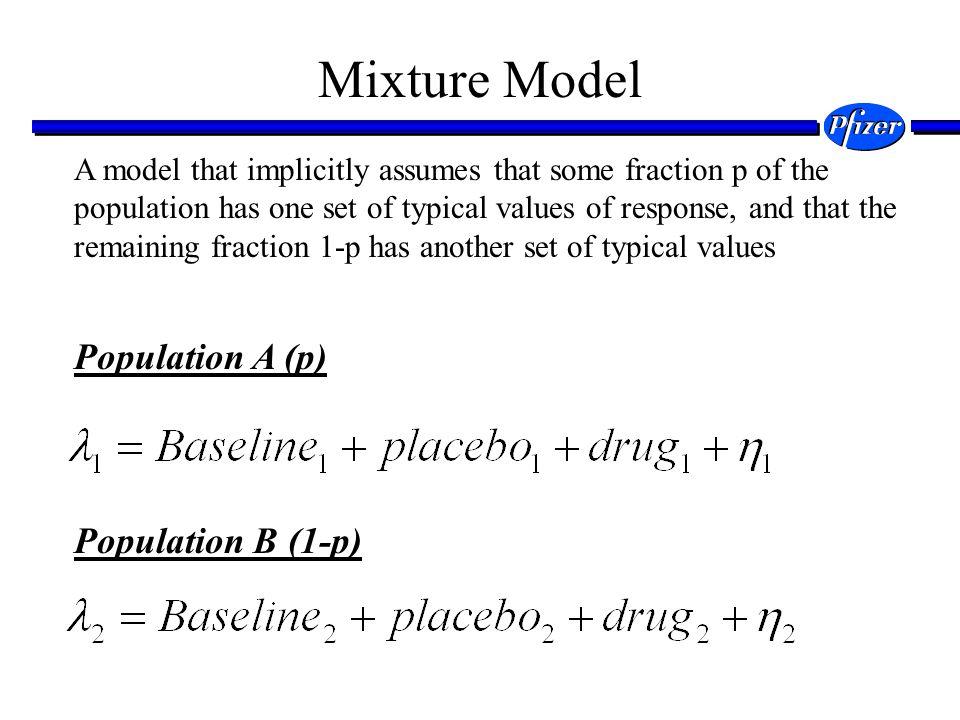 Mixture Model Population A (p) Population B (1-p)