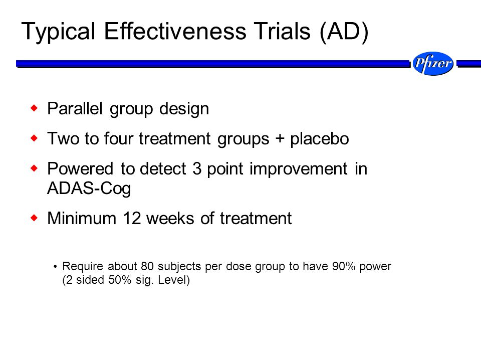 Typical Effectiveness Trials (AD)