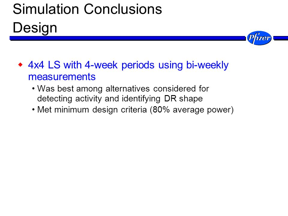 Simulation Conclusions Design