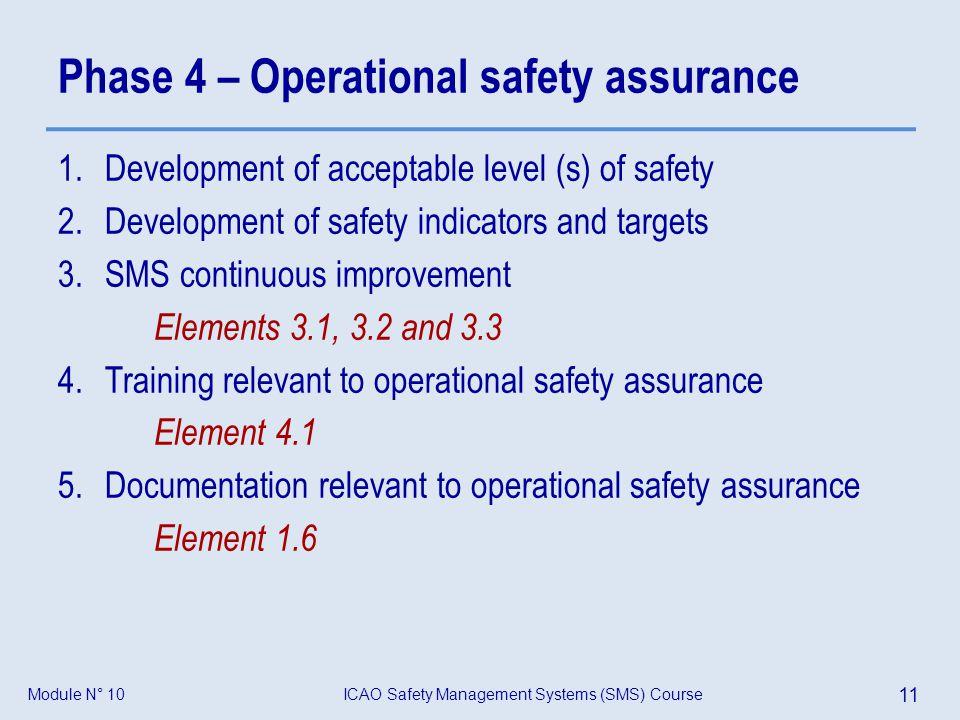 Phase 4 – Operational safety assurance
