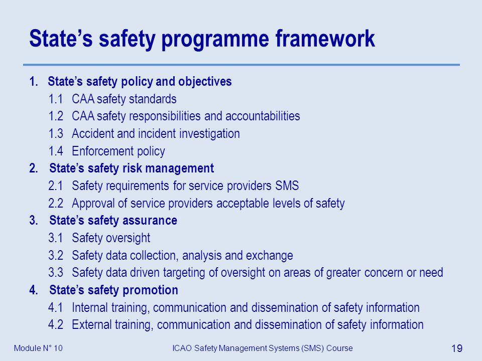 State's safety programme framework