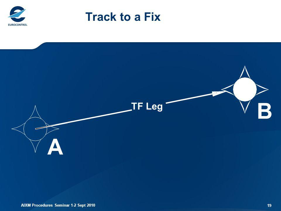 Track to a Fix B TF Leg A AIXM Procedures Seminar 1-2 Sept 2010