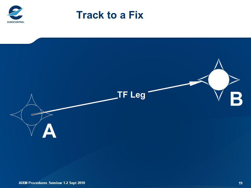 Track to a Fix B TF Leg A AIXM Procedures Seminar 1-2 Sept 2010