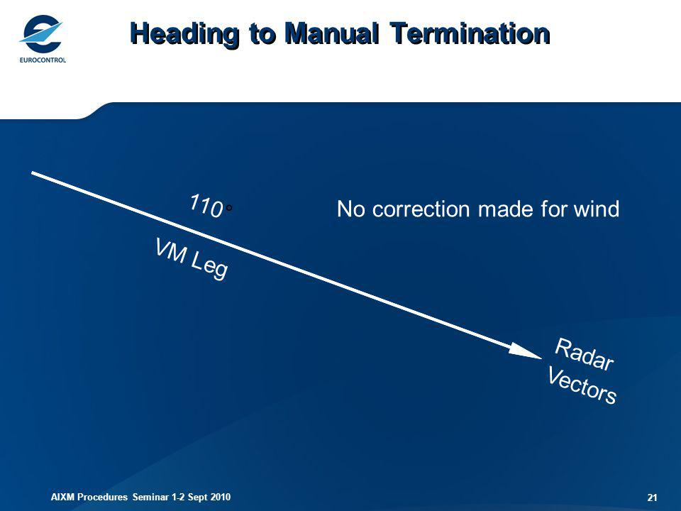 Heading to Manual Termination