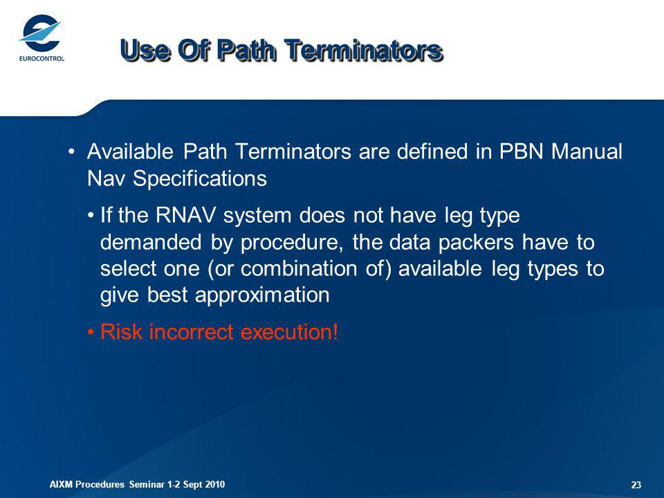 Use Of Path Terminators