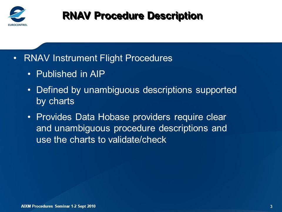 RNAV Procedure Description