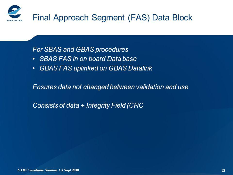 Final Approach Segment (FAS) Data Block