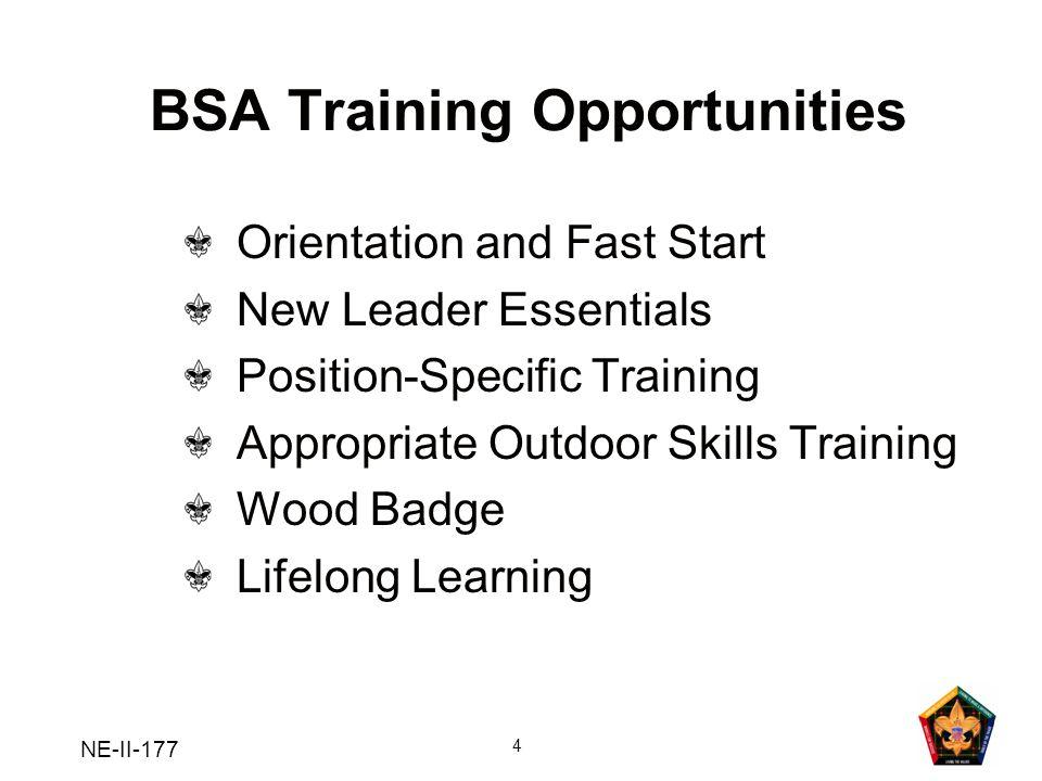 BSA Training Opportunities