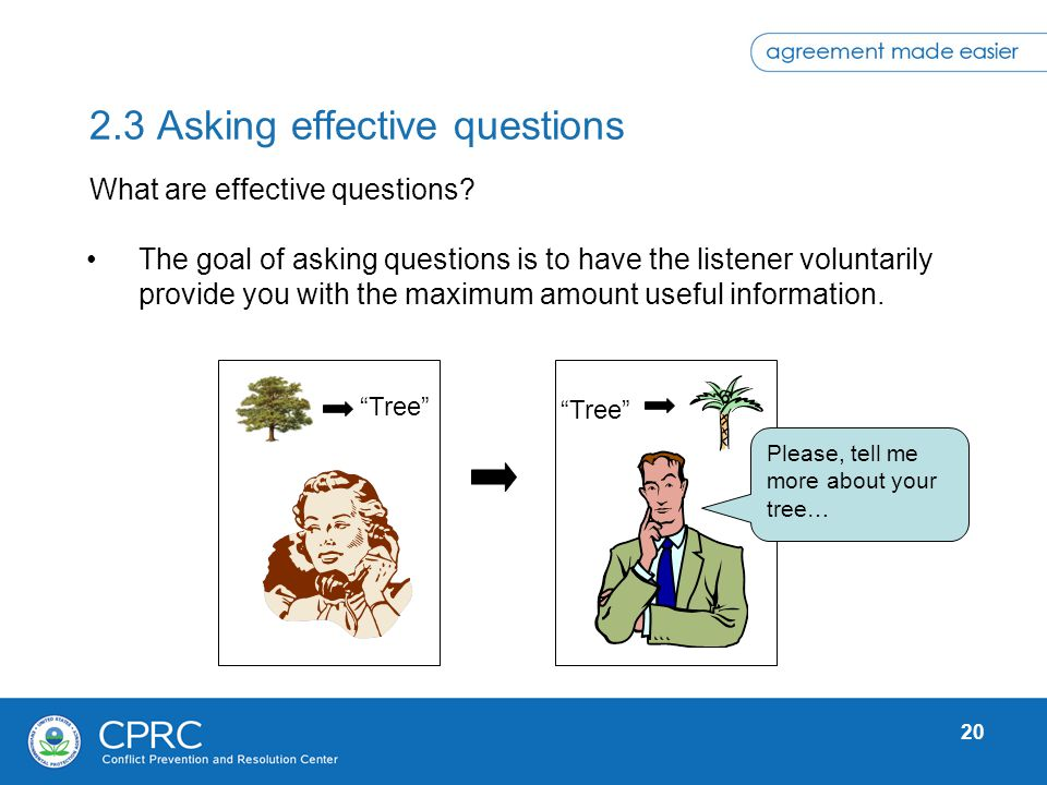 2.3 Asking effective questions