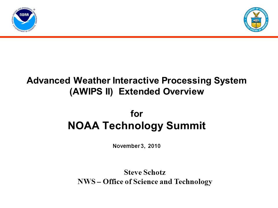 NWS – Office of Science and Technology