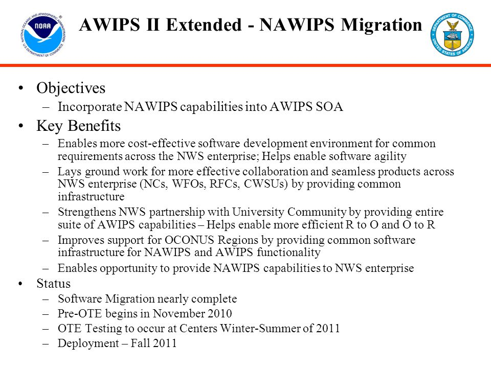 AWIPS II Extended - NAWIPS Migration