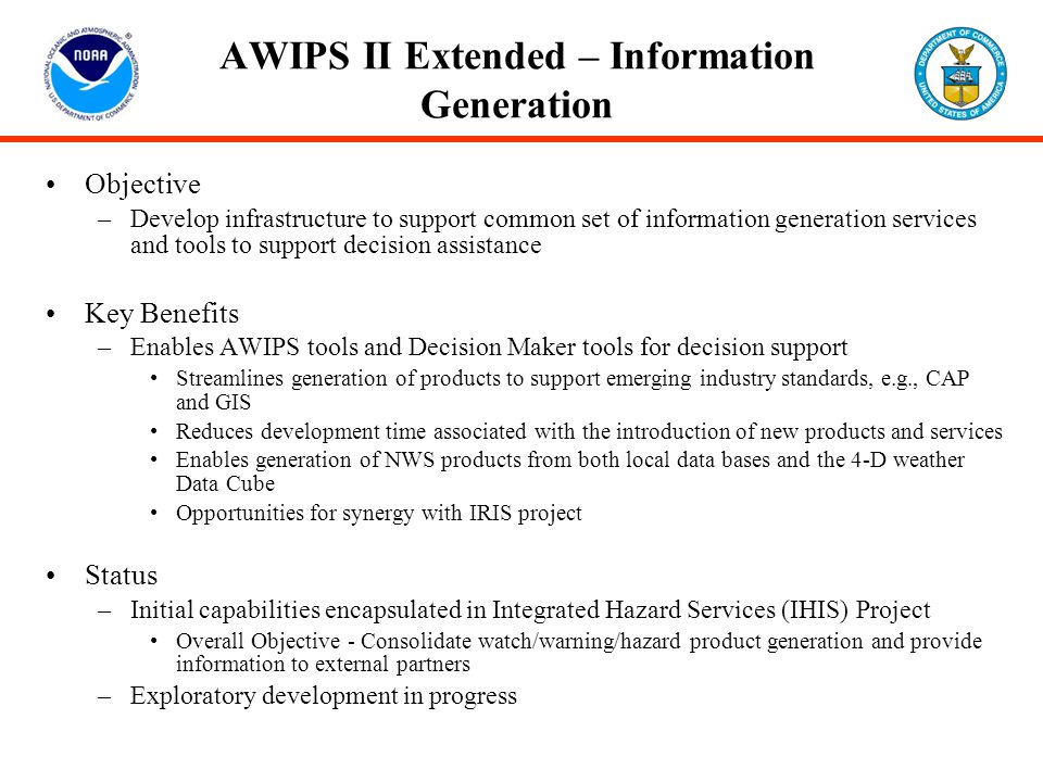 AWIPS II Extended – Information Generation
