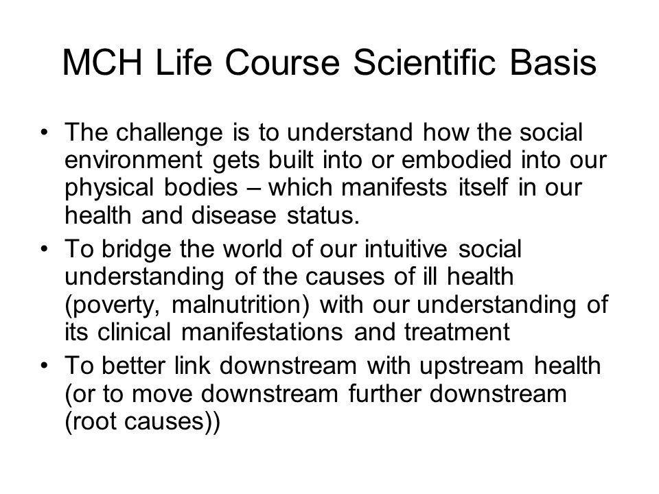 MCH Life Course Scientific Basis