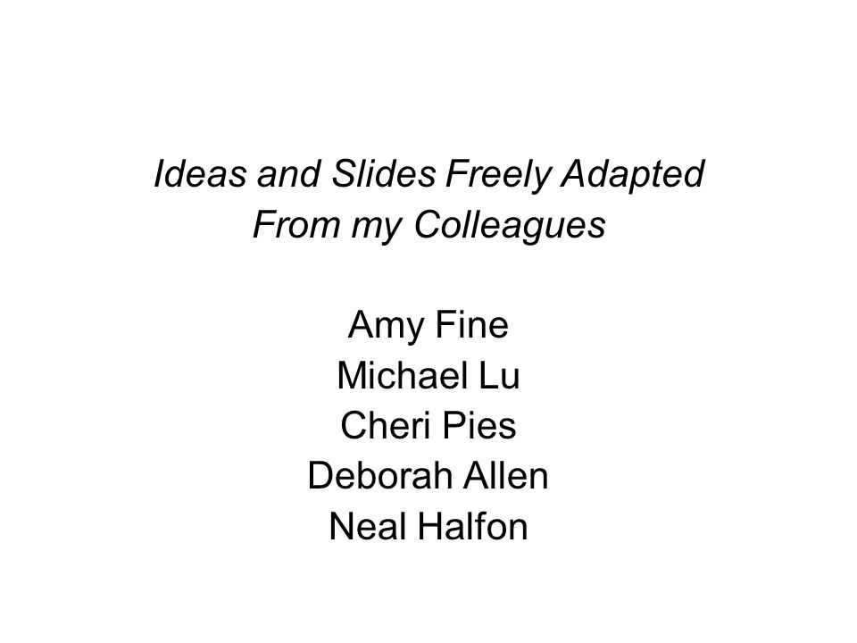 Ideas and Slides Freely Adapted
