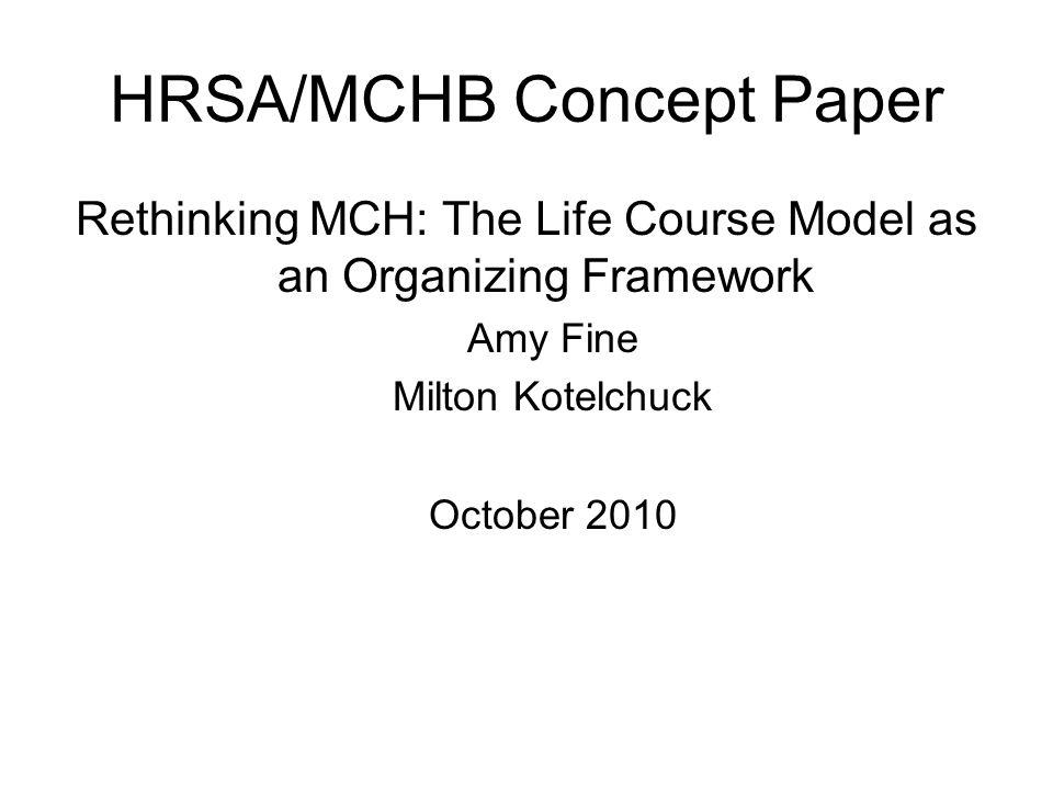 HRSA/MCHB Concept Paper