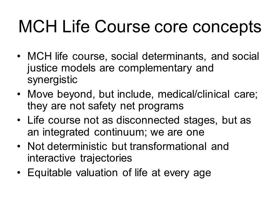 MCH Life Course core concepts