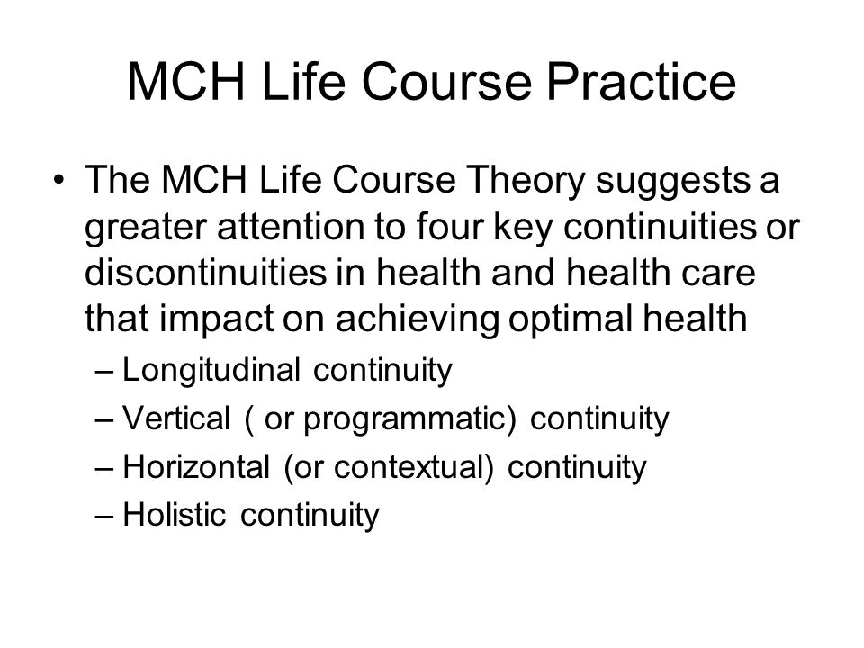 MCH Life Course Practice