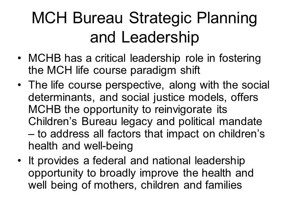 MCH Bureau Strategic Planning and Leadership