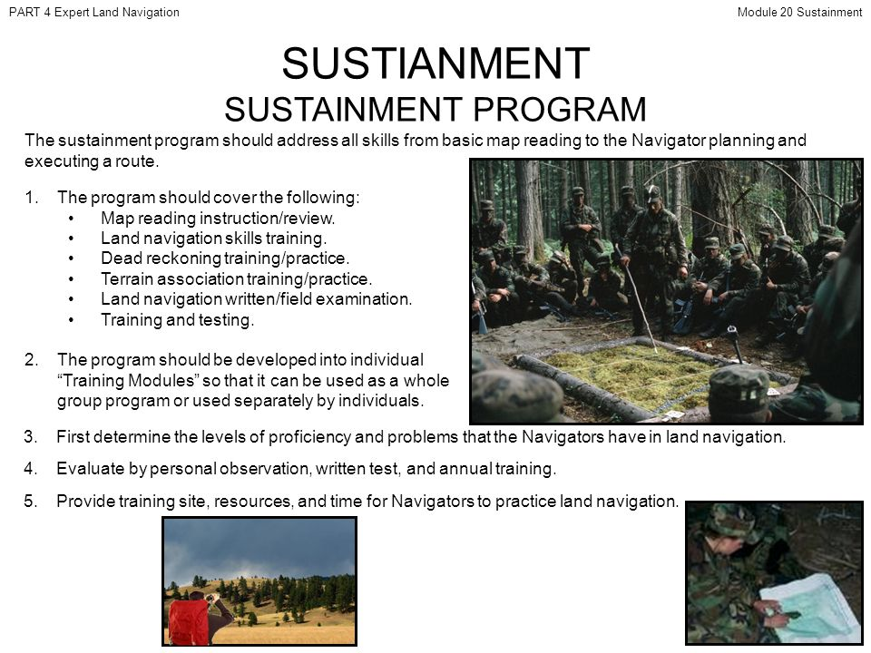 SUSTIANMENT SUSTAINMENT PROGRAM