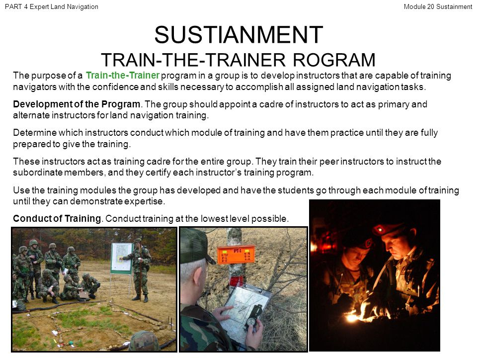 SUSTIANMENT TRAIN-THE-TRAINER ROGRAM