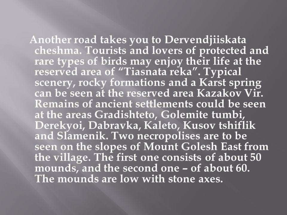 Another road takes you to Dervendjiiskata cheshma