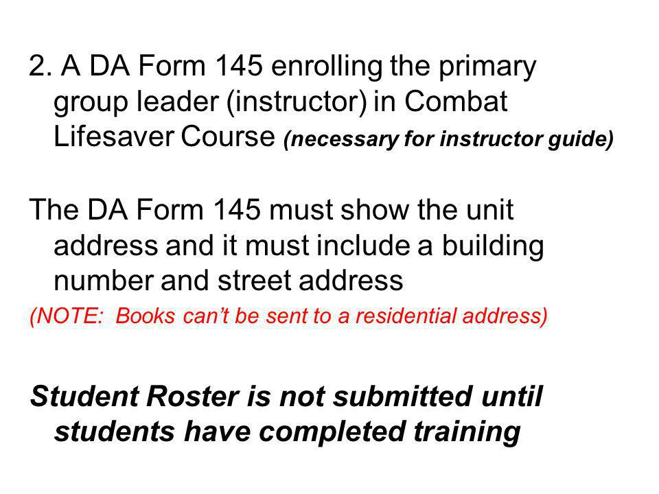 Student Roster is not submitted until students have completed training