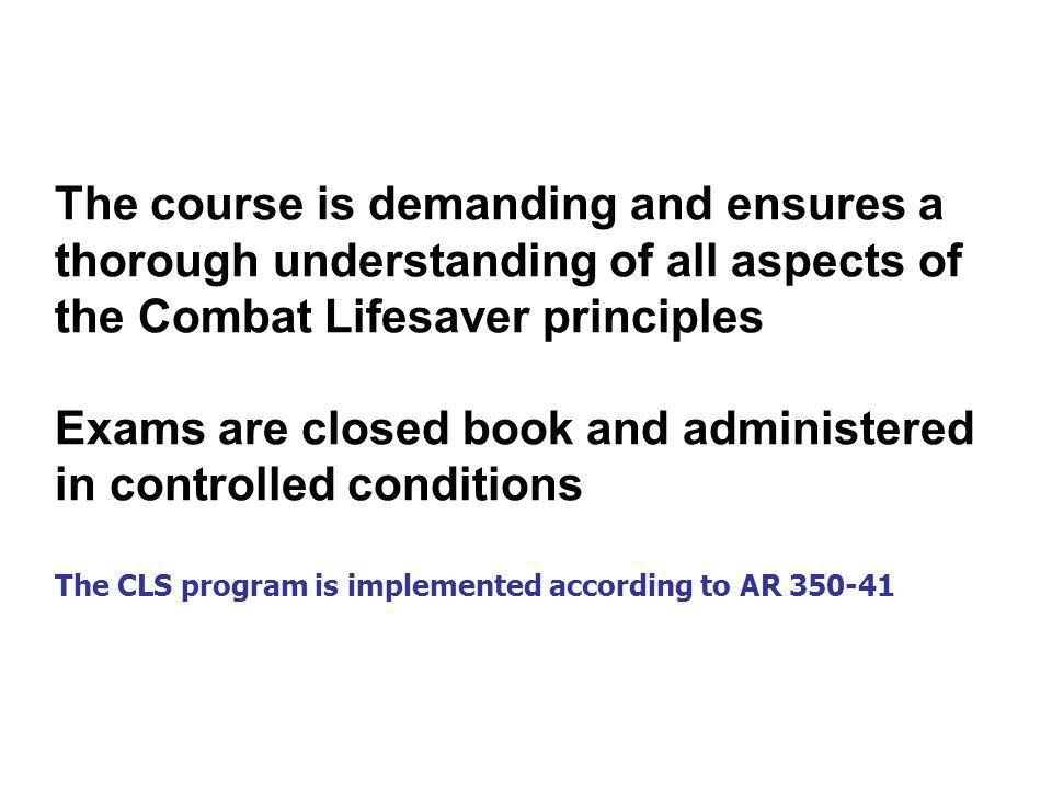 Exams are closed book and administered in controlled conditions