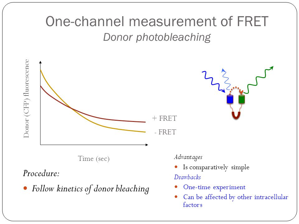 One-channel measurement of FRET Donor photobleaching