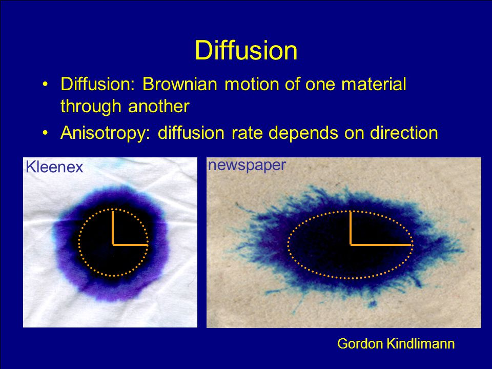 Diffusion Diffusion: Brownian motion of one material through another