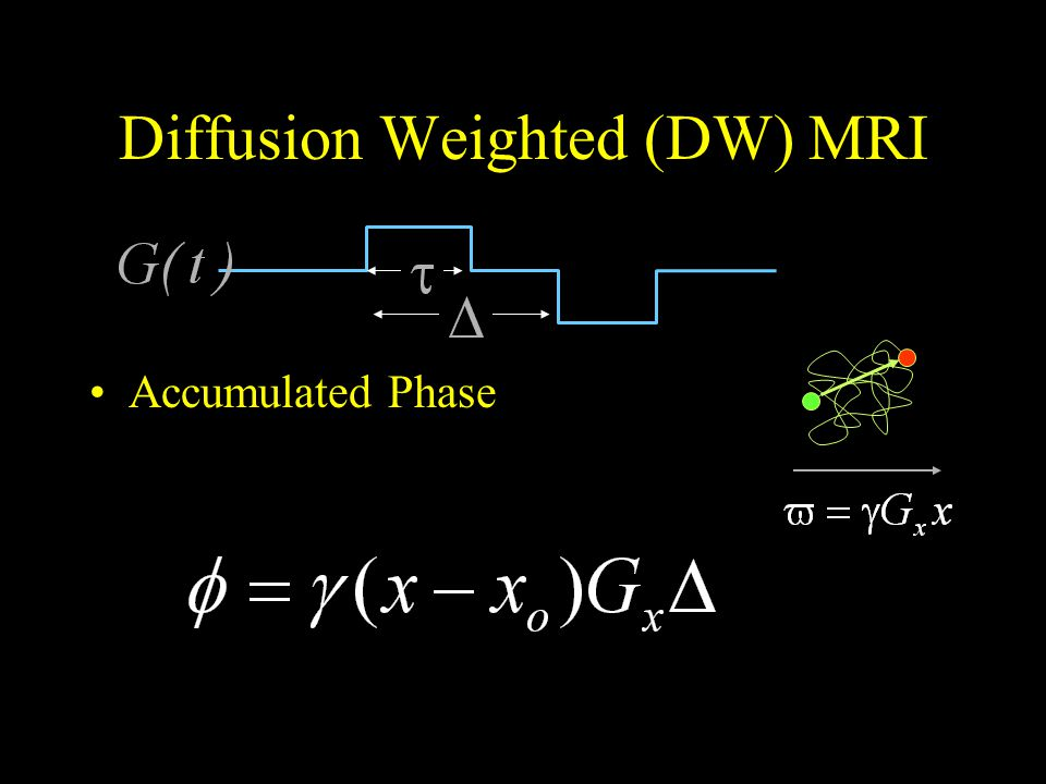 Diffusion Weighted (DW) MRI