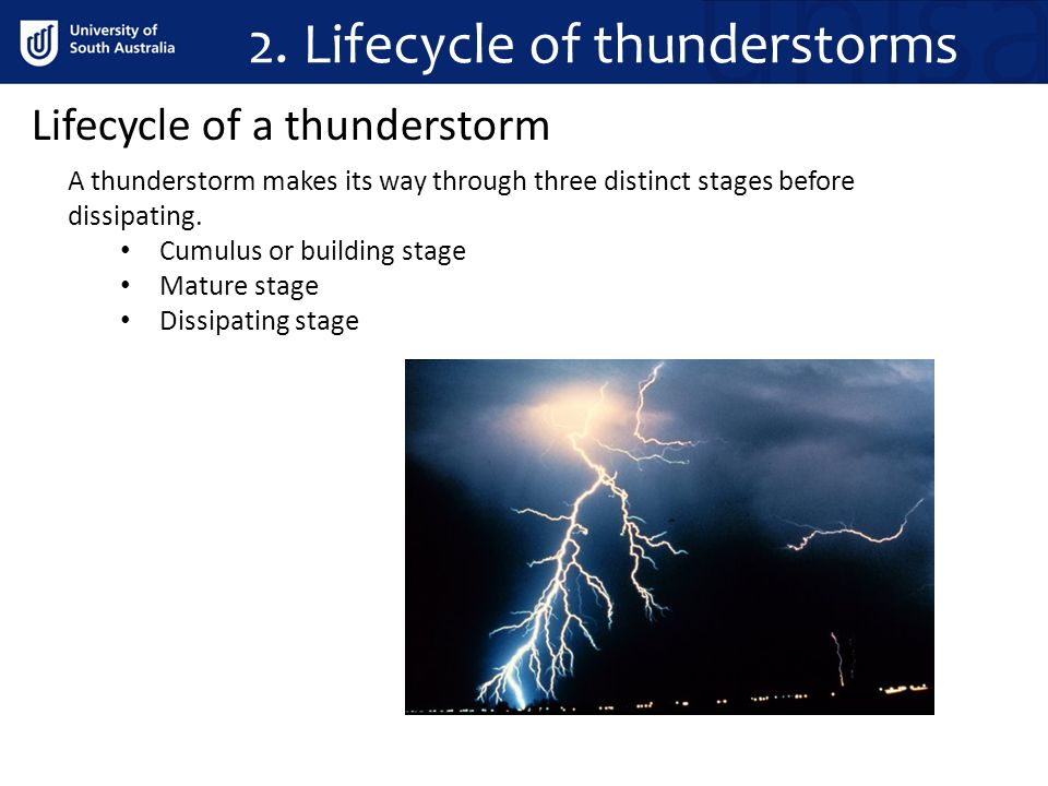 2. Lifecycle of thunderstorms