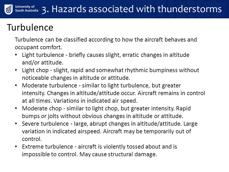 3. Hazards associated with thunderstorms