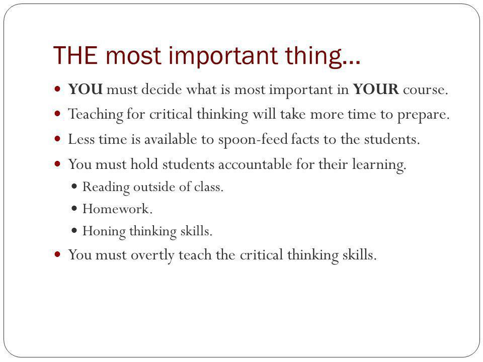 inventory of instructional strategies for critical thinking
