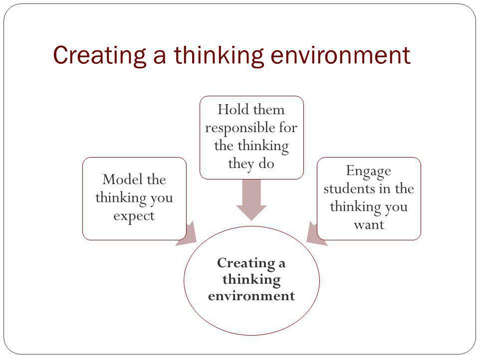 Creating a thinking environment