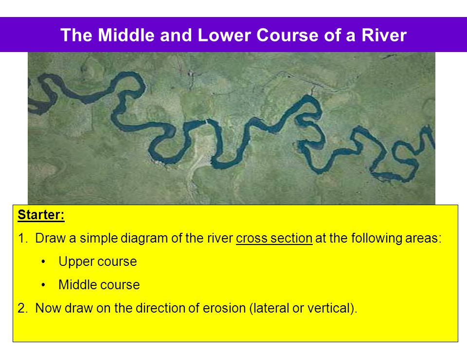 The Middle and Lower Course of a River