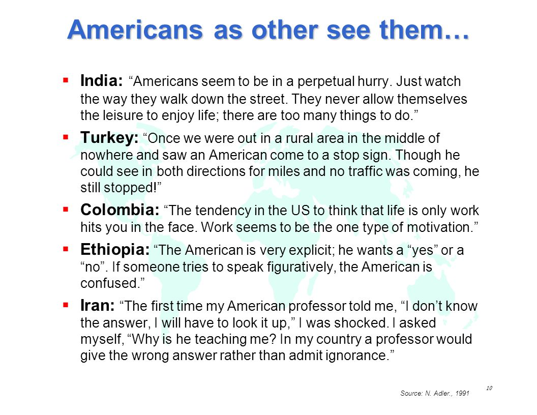 Americans as other see them…